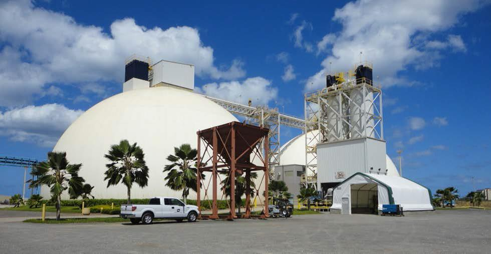 Figure 4: Typical Cement Dome Storage, (photo courtesy of HDOT)